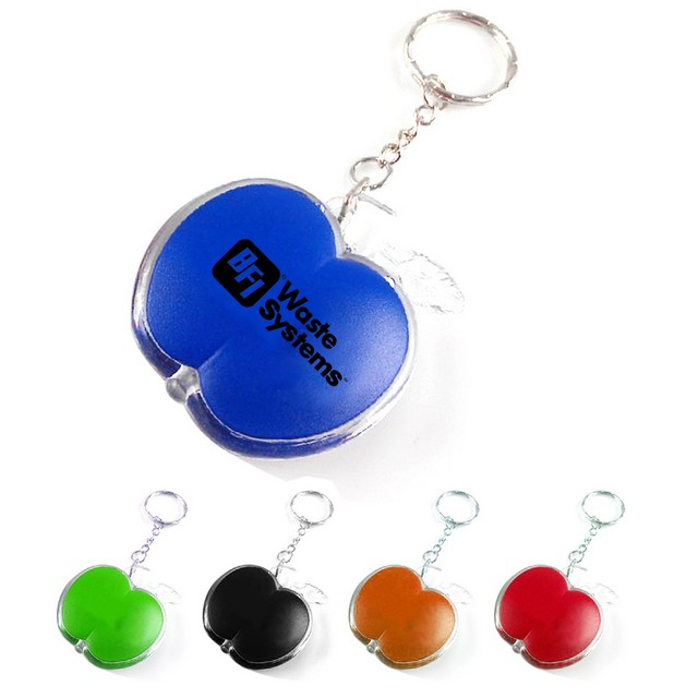 Apple Shaped LED Light Keychain - Apple Shaped LED Light Keychain