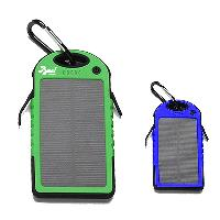 5000 mAh Solar Power Bank with LED - 5000 mAh Solar Power Bank With LED