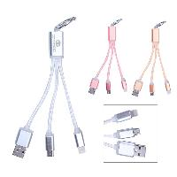 2-In-1 Charging and Data Sync Cables Keychain - 2-In-1 Charging and Data Sync Cables Keychain